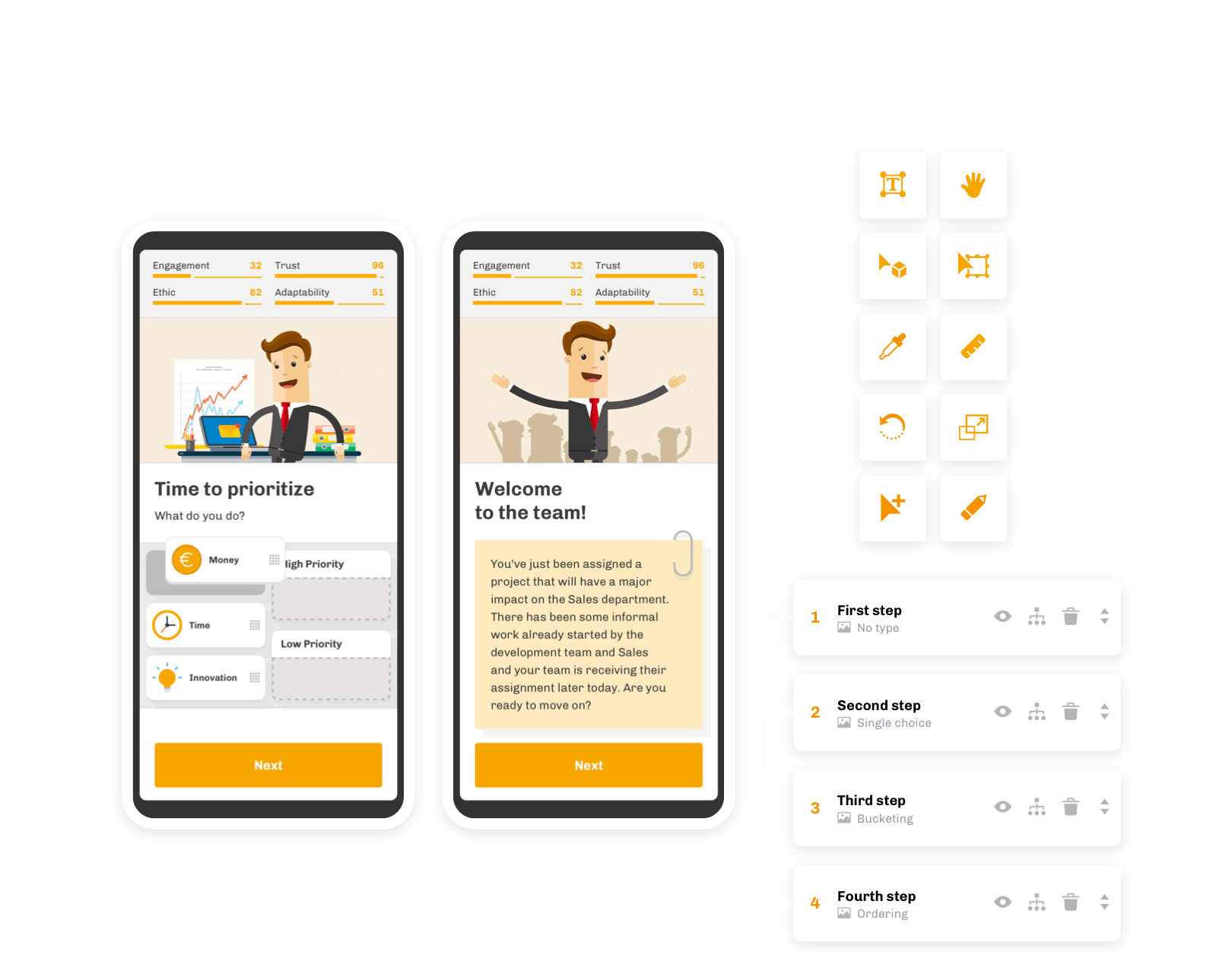 Qigu Check interactive learnings and quizzes